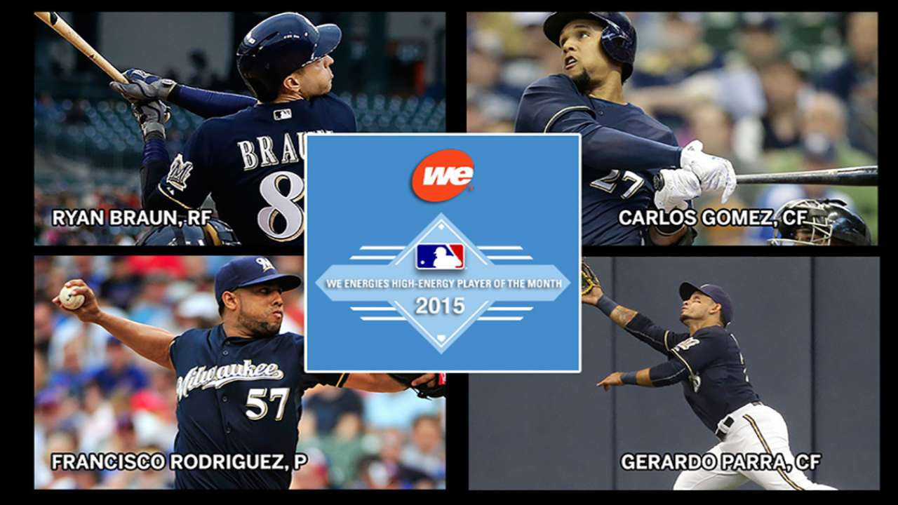 Brewers May nominees