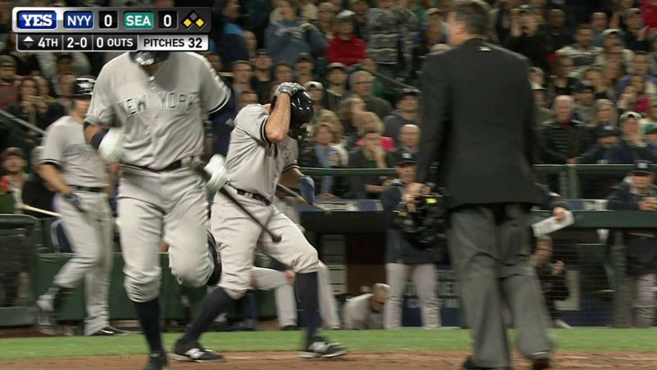 Gardner scores on wild pitch