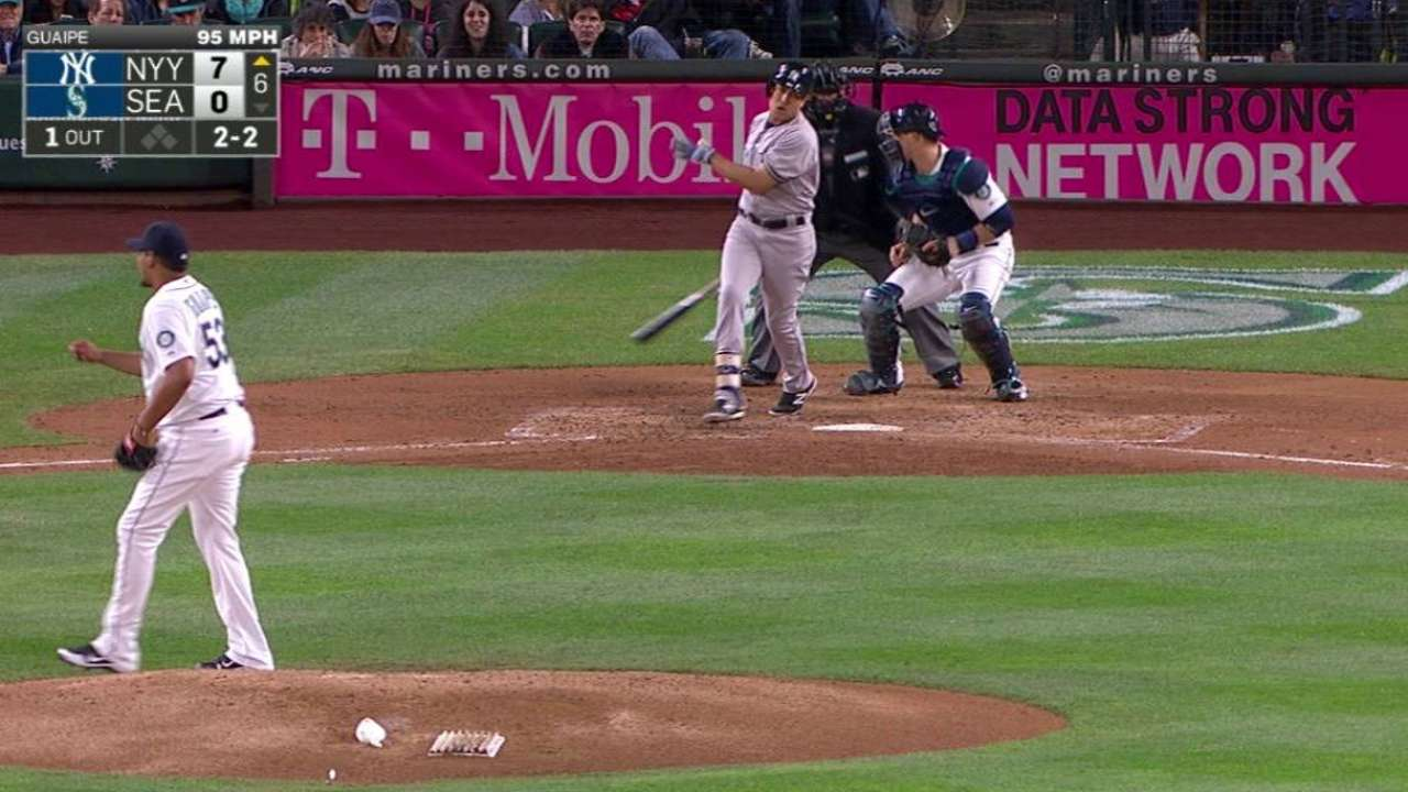 Guaipe's first MLB strikeout