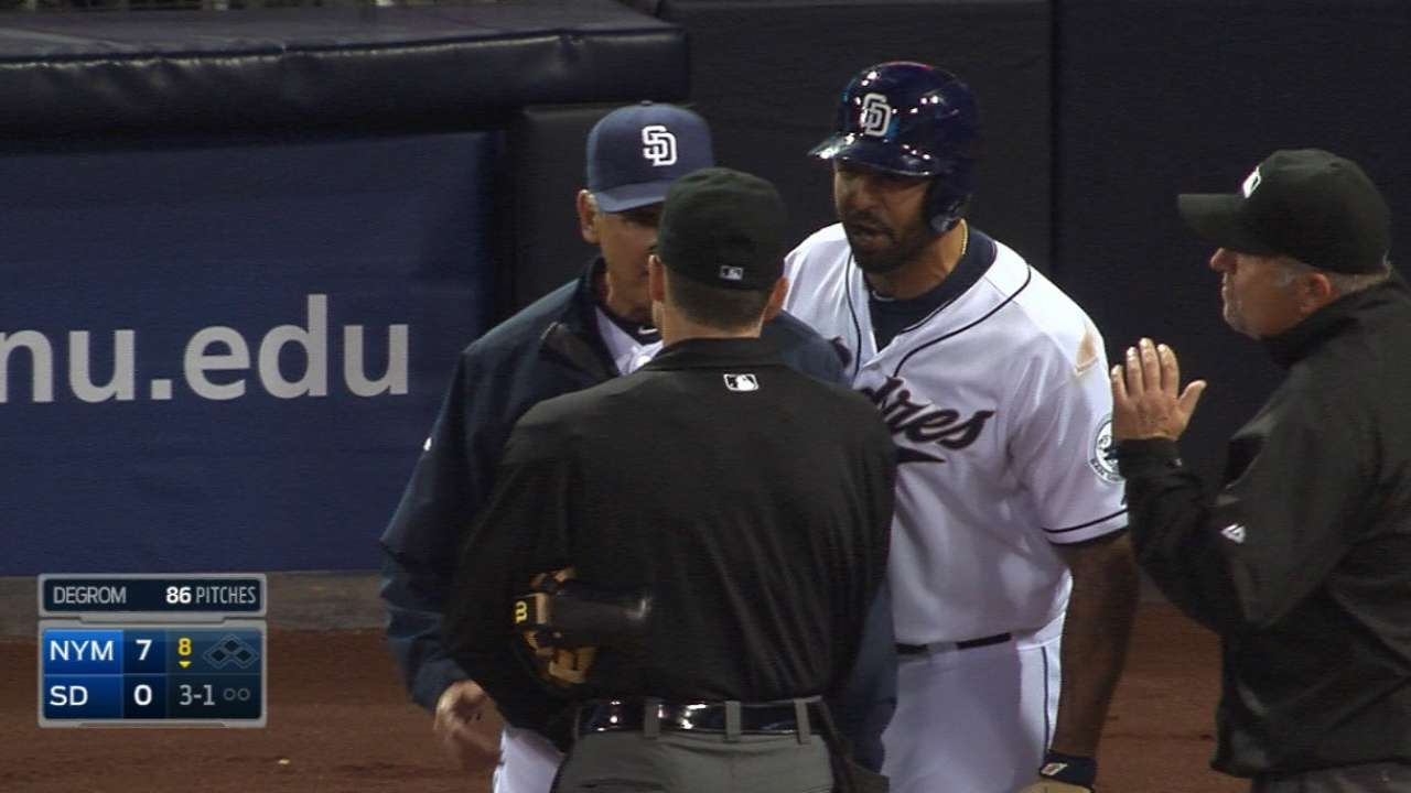 Kemp, Black ejected in the 8th