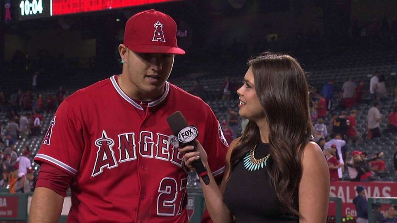 Trout on Angels' win