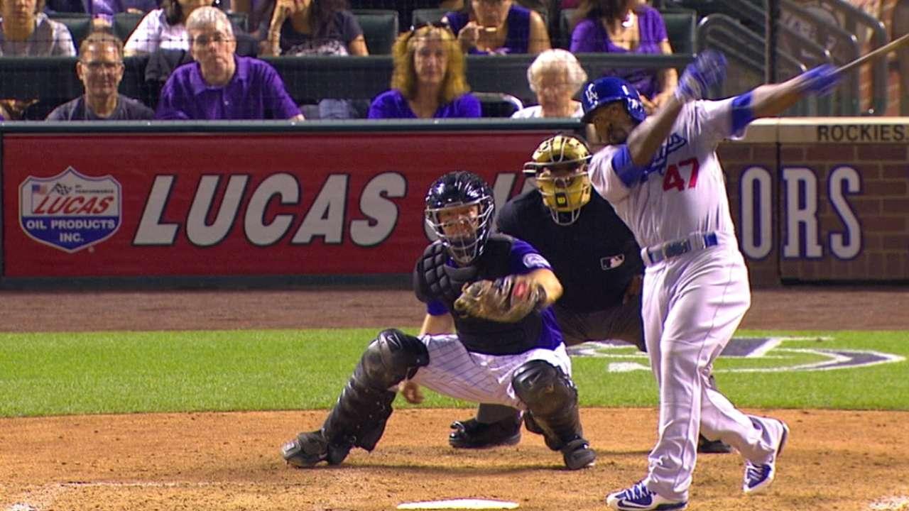 Dodgers' bats knock four homers