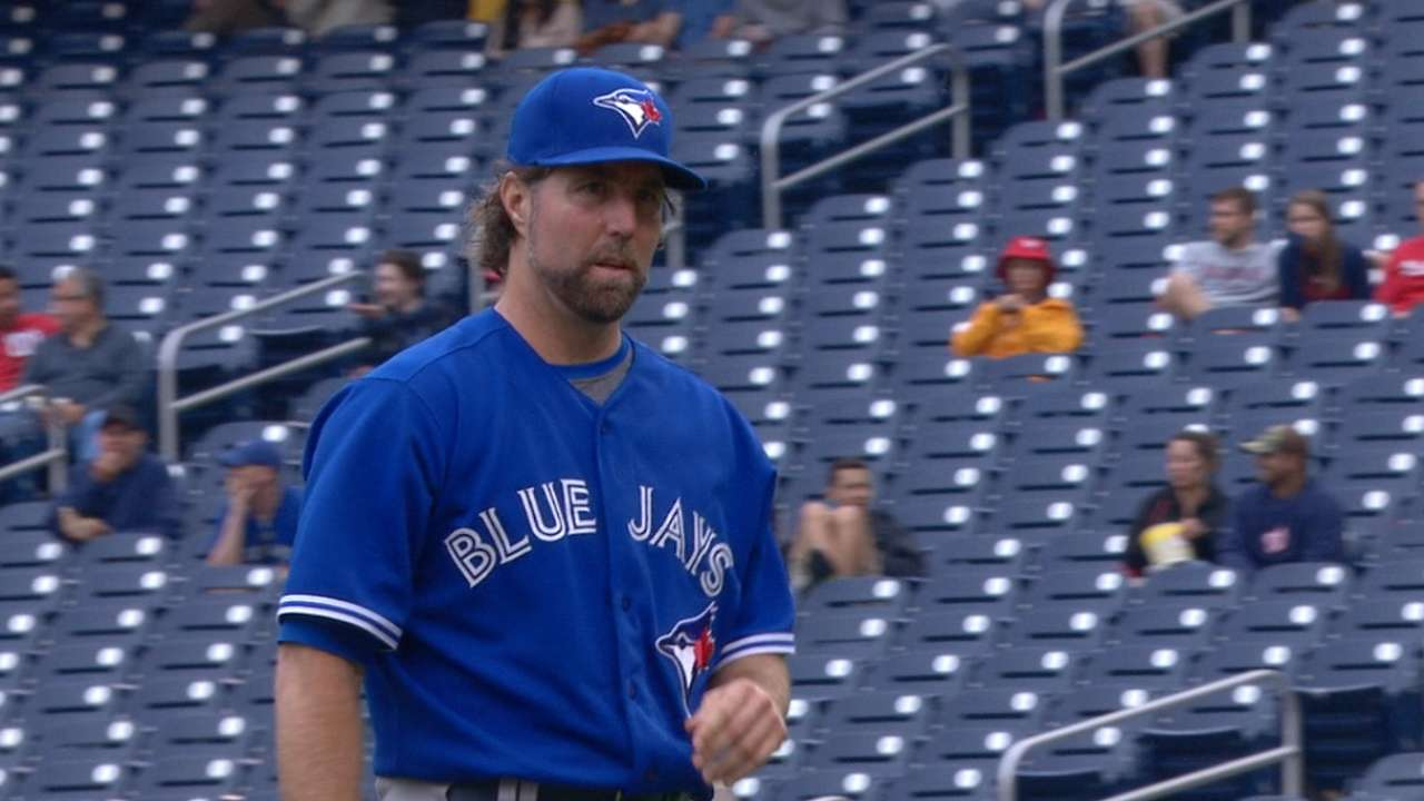 Dickey strikes out six
