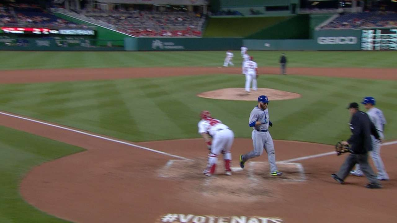 Martin swipes home on double steal in DC
