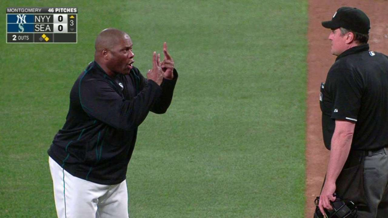 McClendon argues with 3 umps after ejection