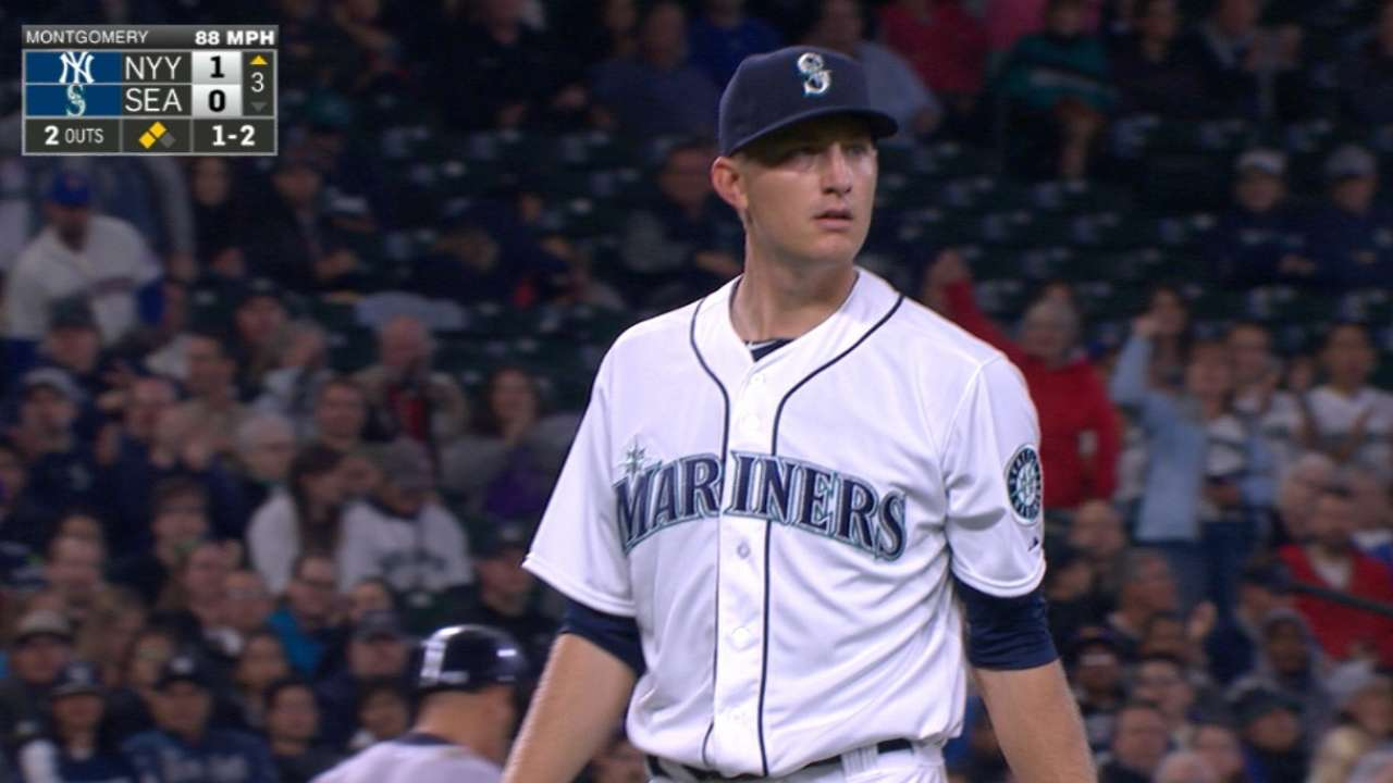 McClendon lauds Montgomery's MLB debut