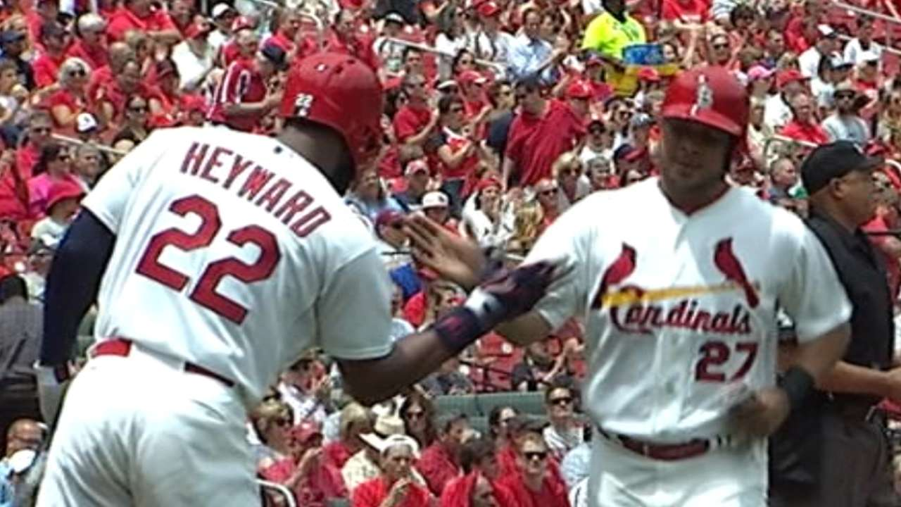 Cards ride 5-run first to series win over Crew