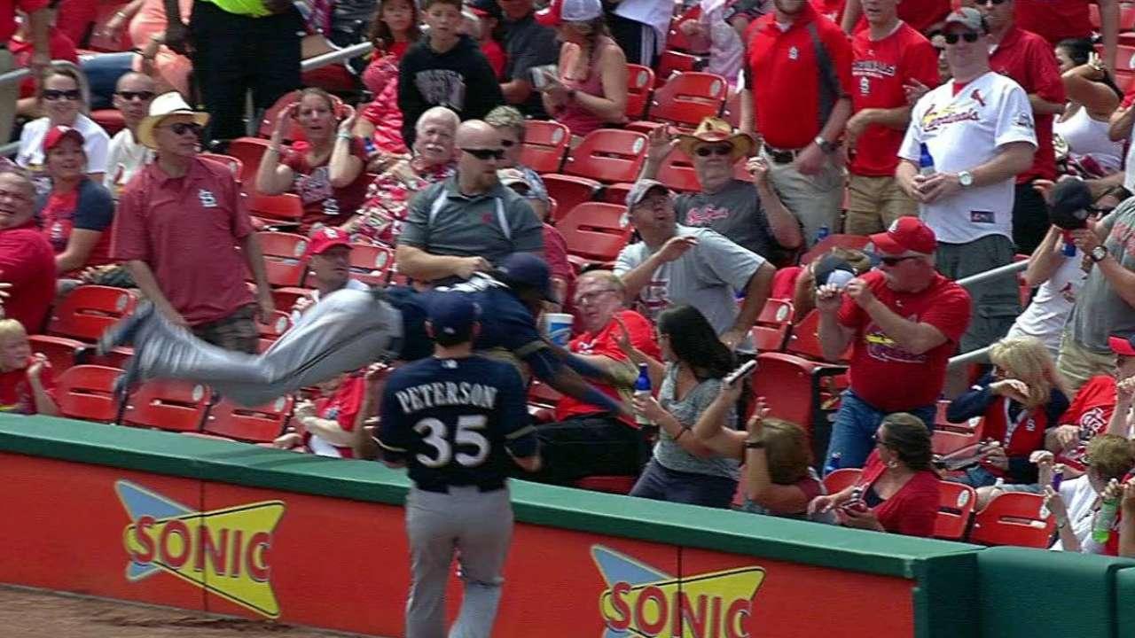 H. Gomez concussion-free after dive into seats