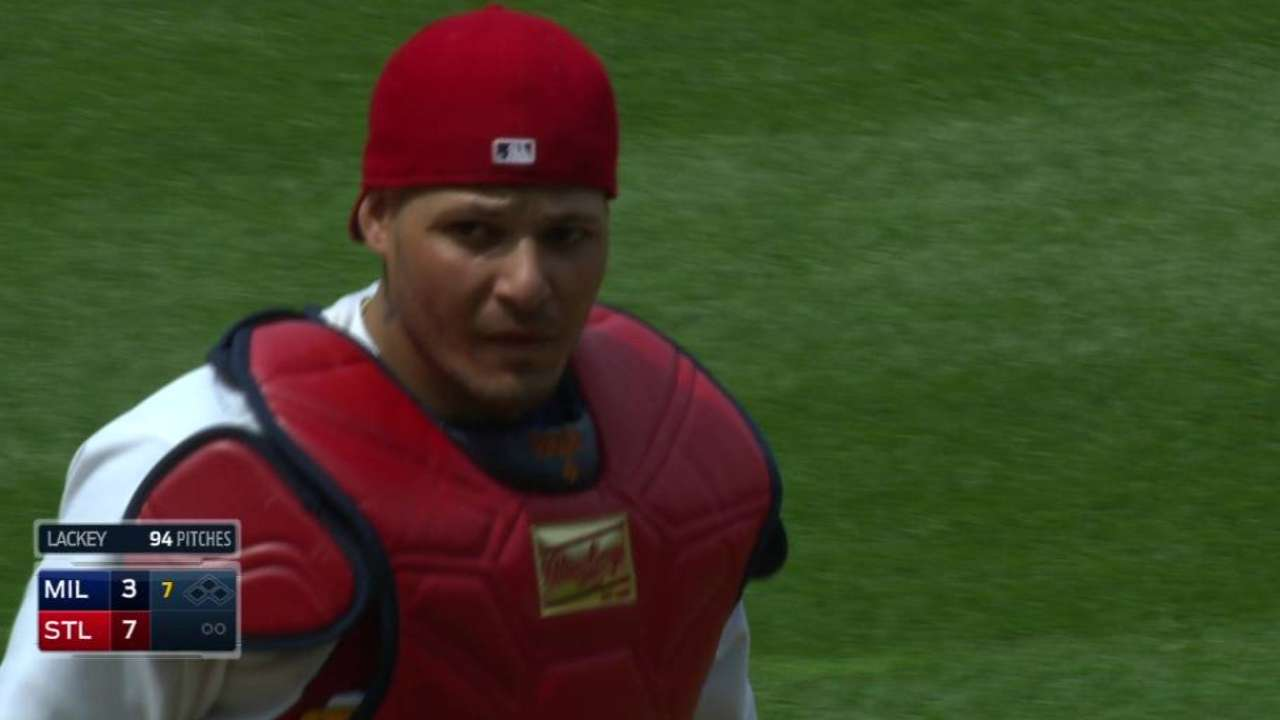 Yadi the gold standard of catching