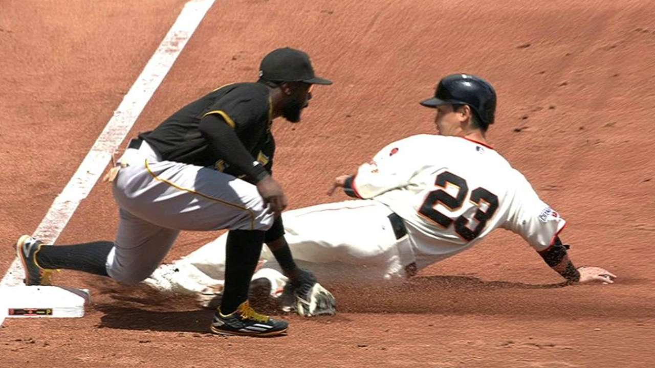 Aoki's out call stands at third