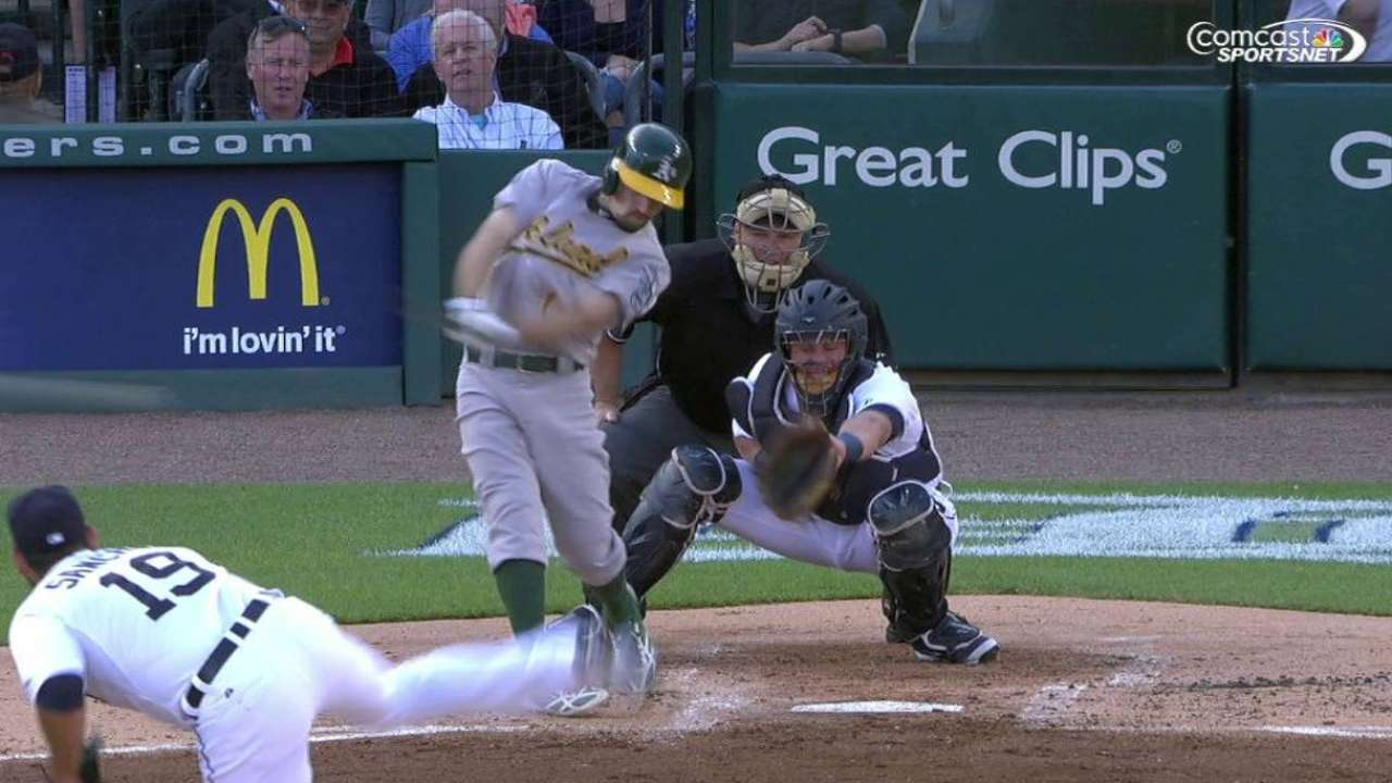 Burns' bases-clearing triple