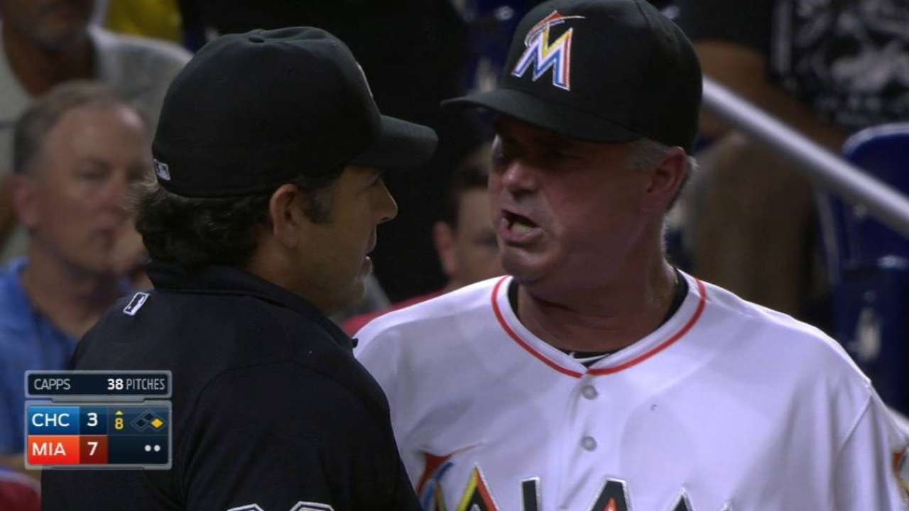Jennings ejected on emotionally charged night