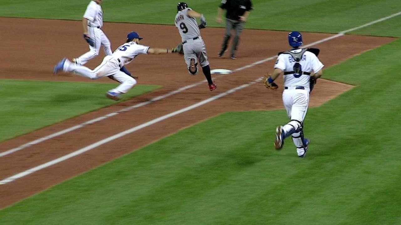 Hosmer's impressive fielding