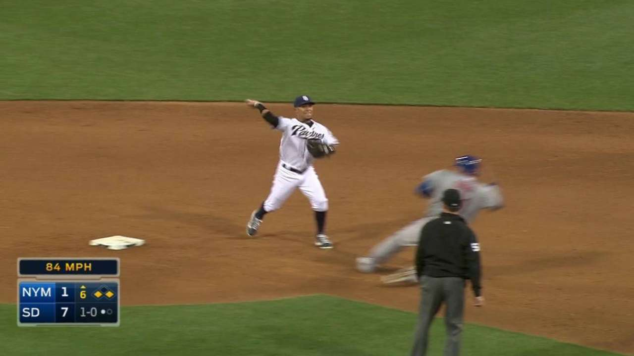 Shields induces double play