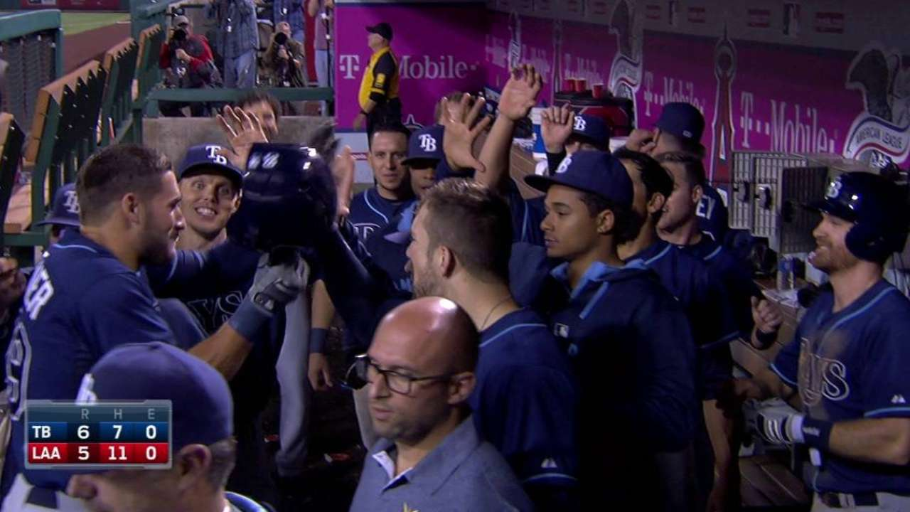 Kiermaier's homer in 10th lifts Rays over Halos