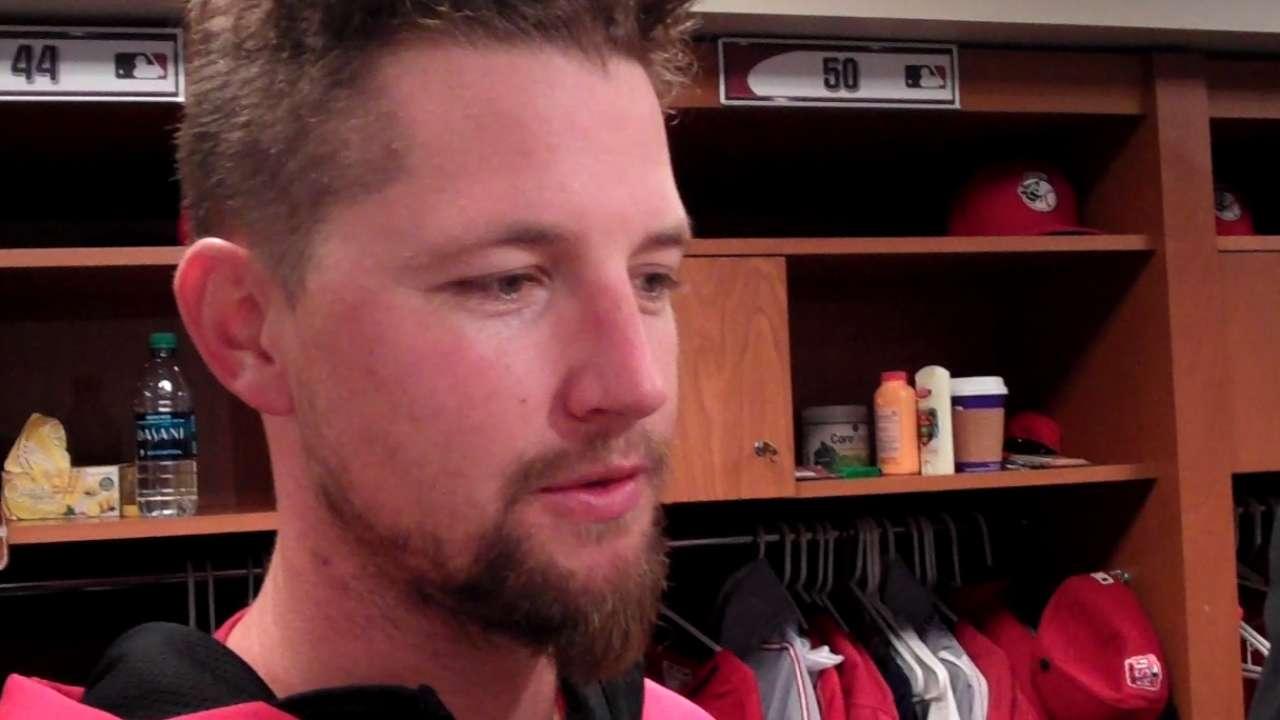 Leake talks missed no-hitter