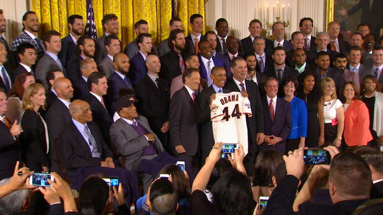 Giants visit the White House