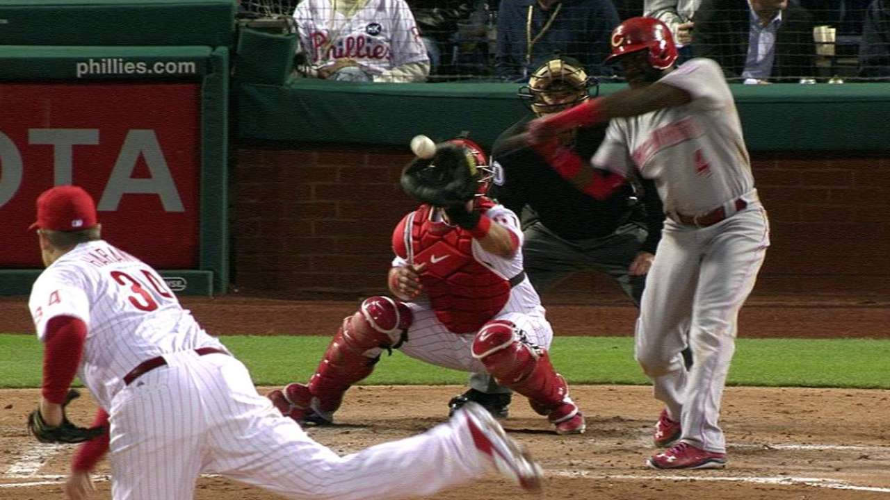 Phillips a catalyst for Reds in leadoff spot