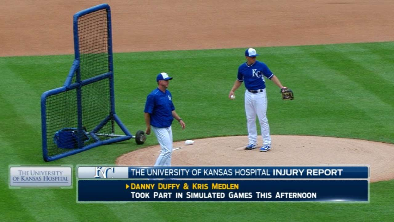 Duffy's rehab allows Royals to weigh options