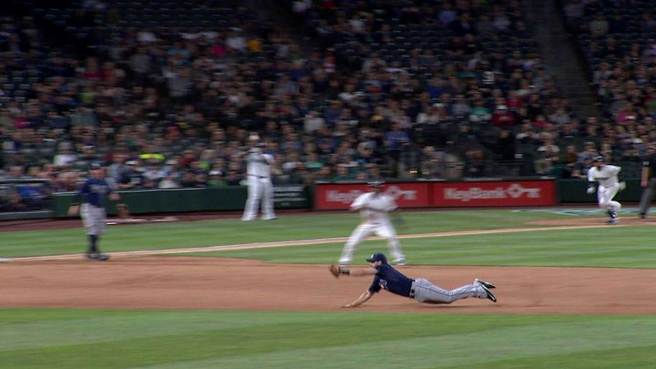 Forsythe's great diving stop