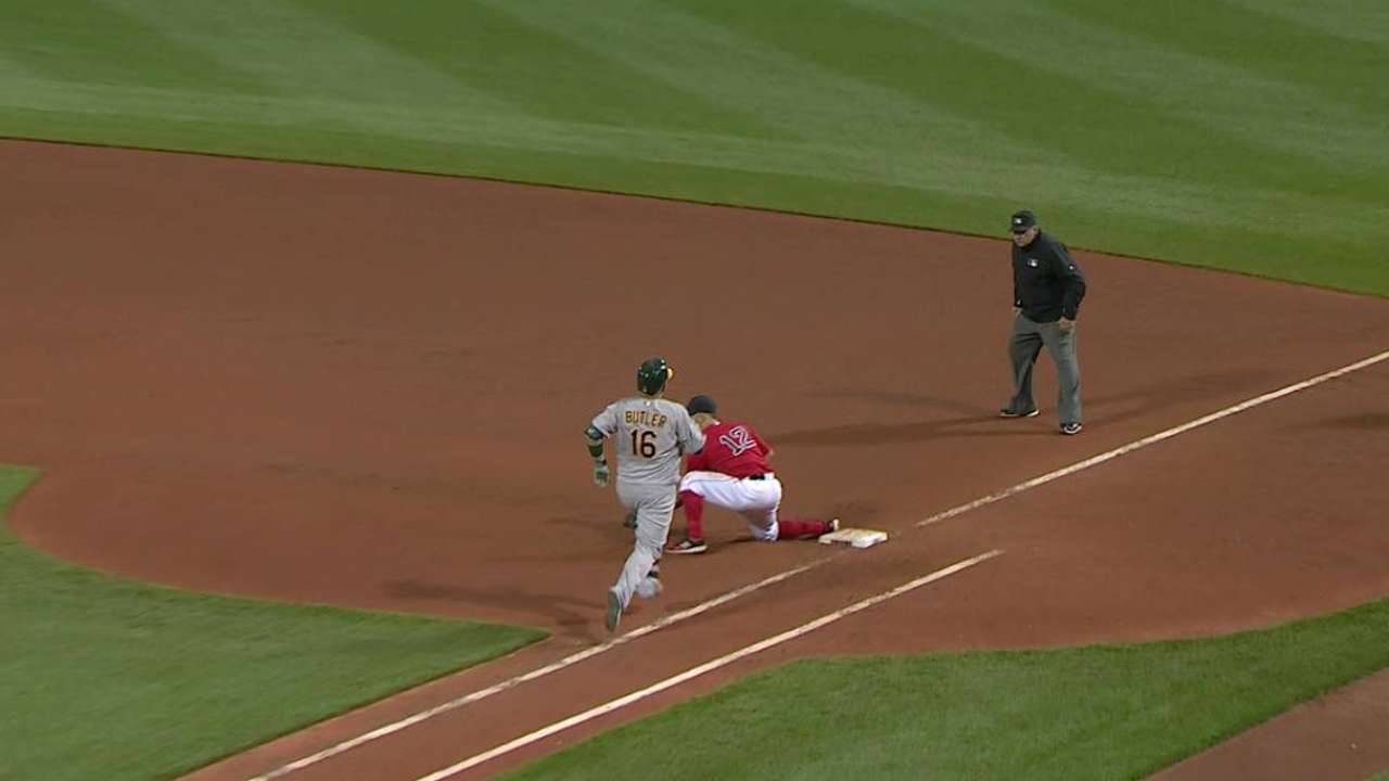 Red Sox turn double play