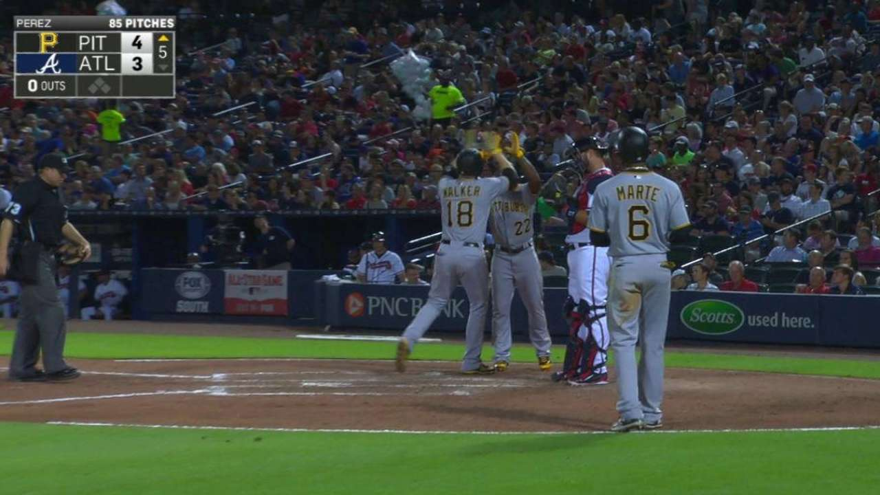 Walker's three-run homer