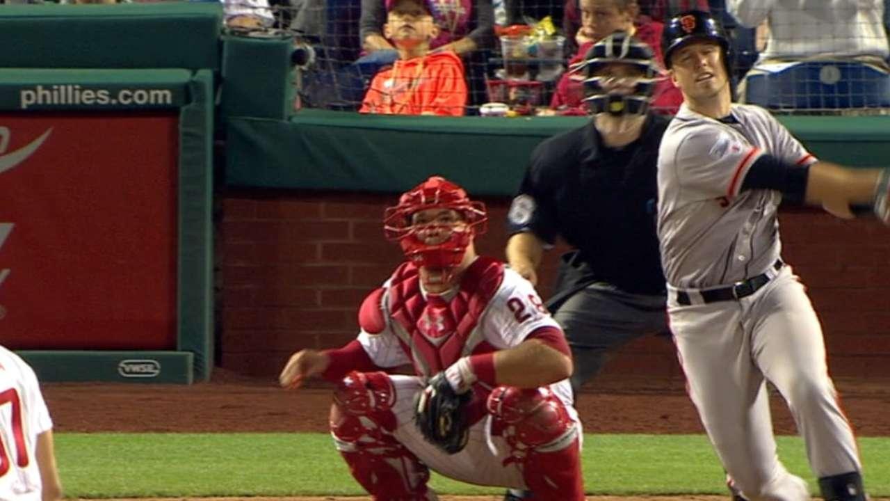 Posey's go-ahead solo home run
