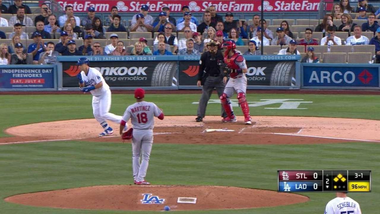 Pederson's bases-loaded walk