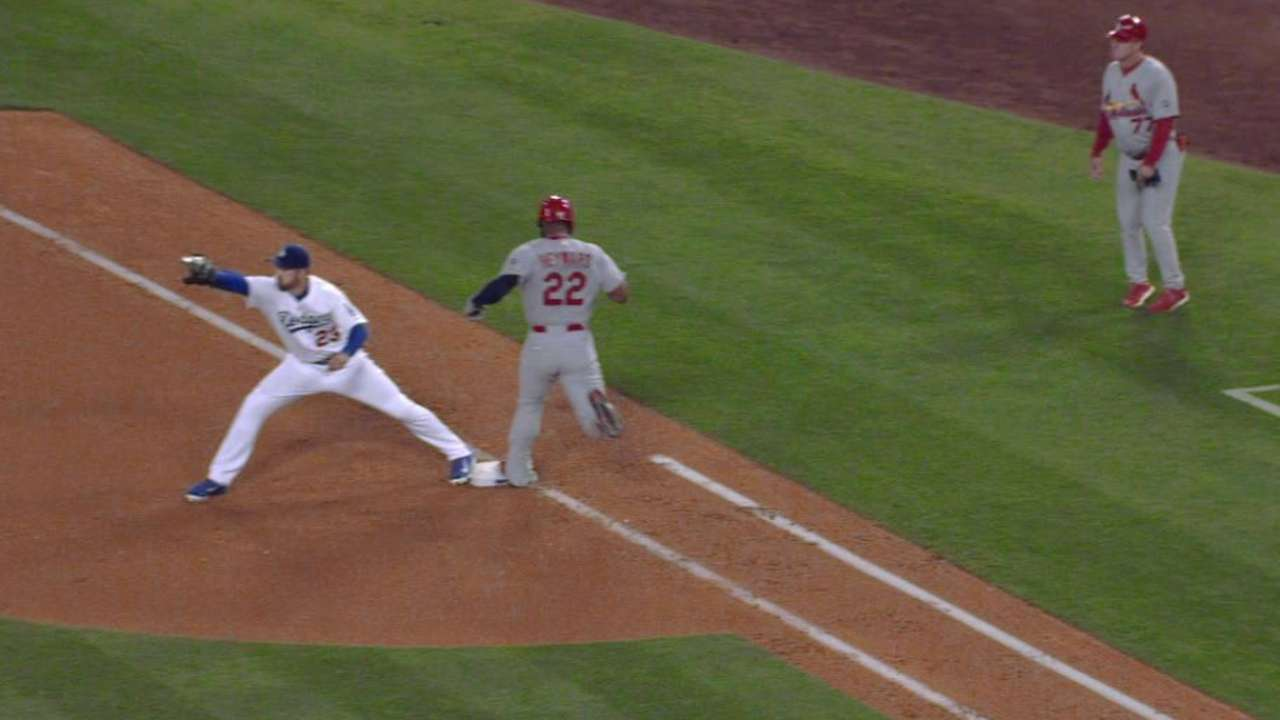 Heyward called safe, call stands