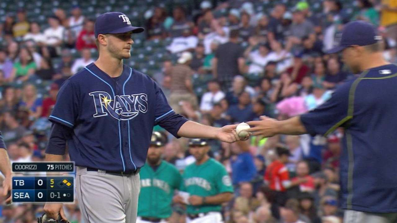 Odorizzi feels 'normal' after throwing BP