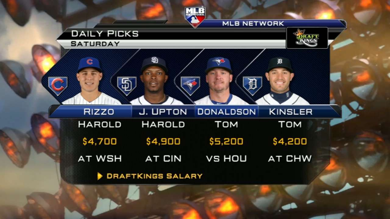 DraftKings picks: Donaldson devouring lefties