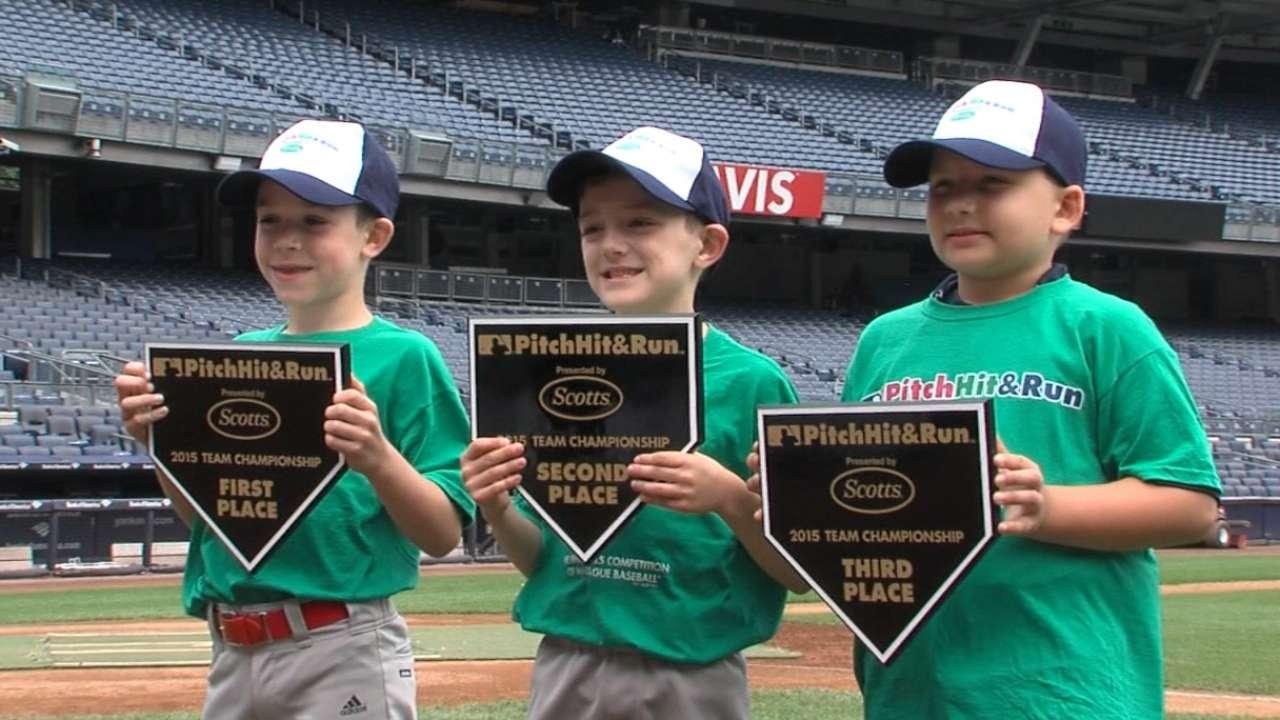 Yankee Stadium hosts Pitch, Hit & Run