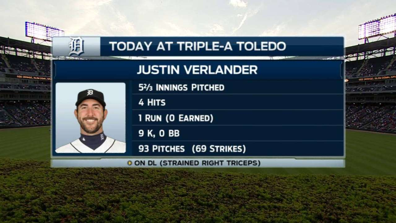 Verlander continues his recovery