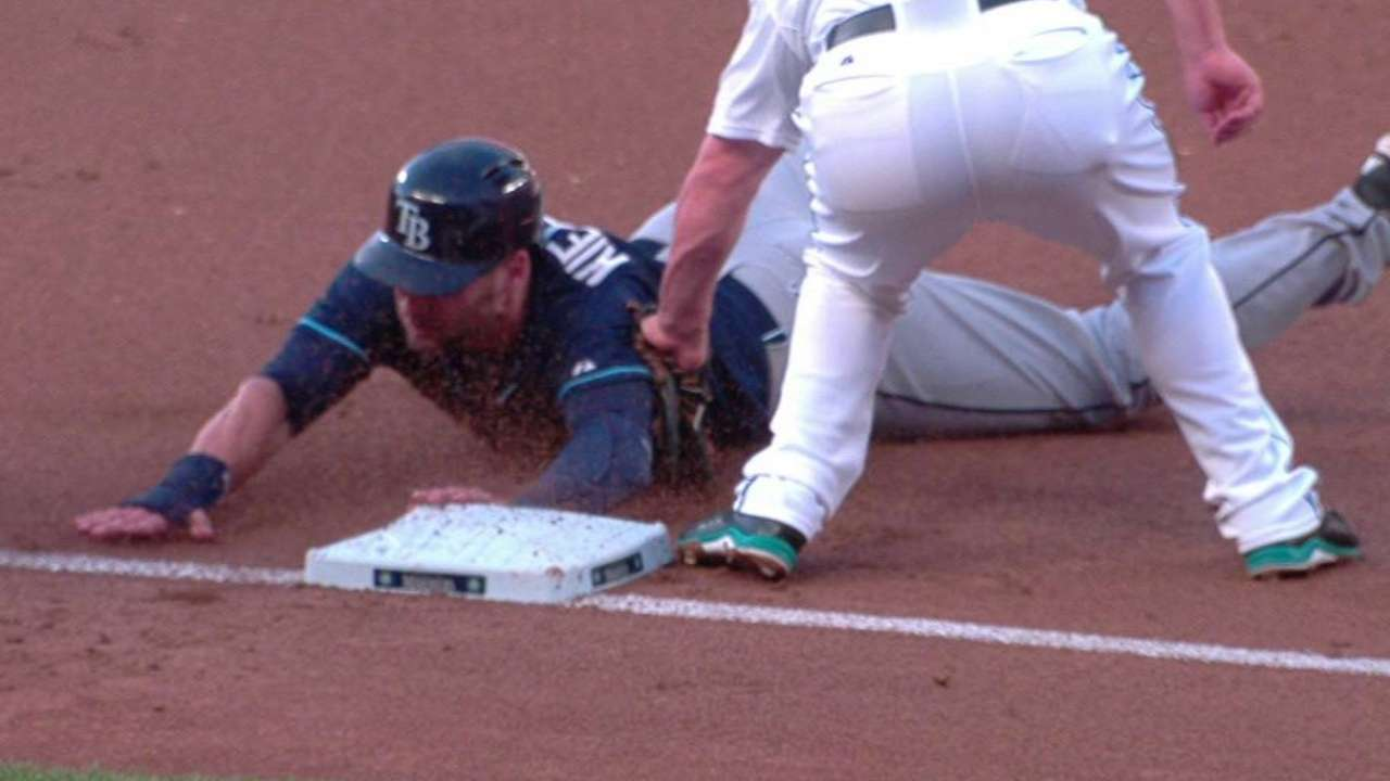 Kiermaier gets steal on review