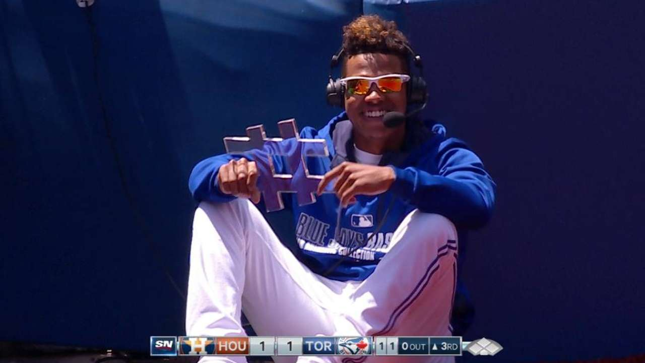 Stroman chats with the broadcast