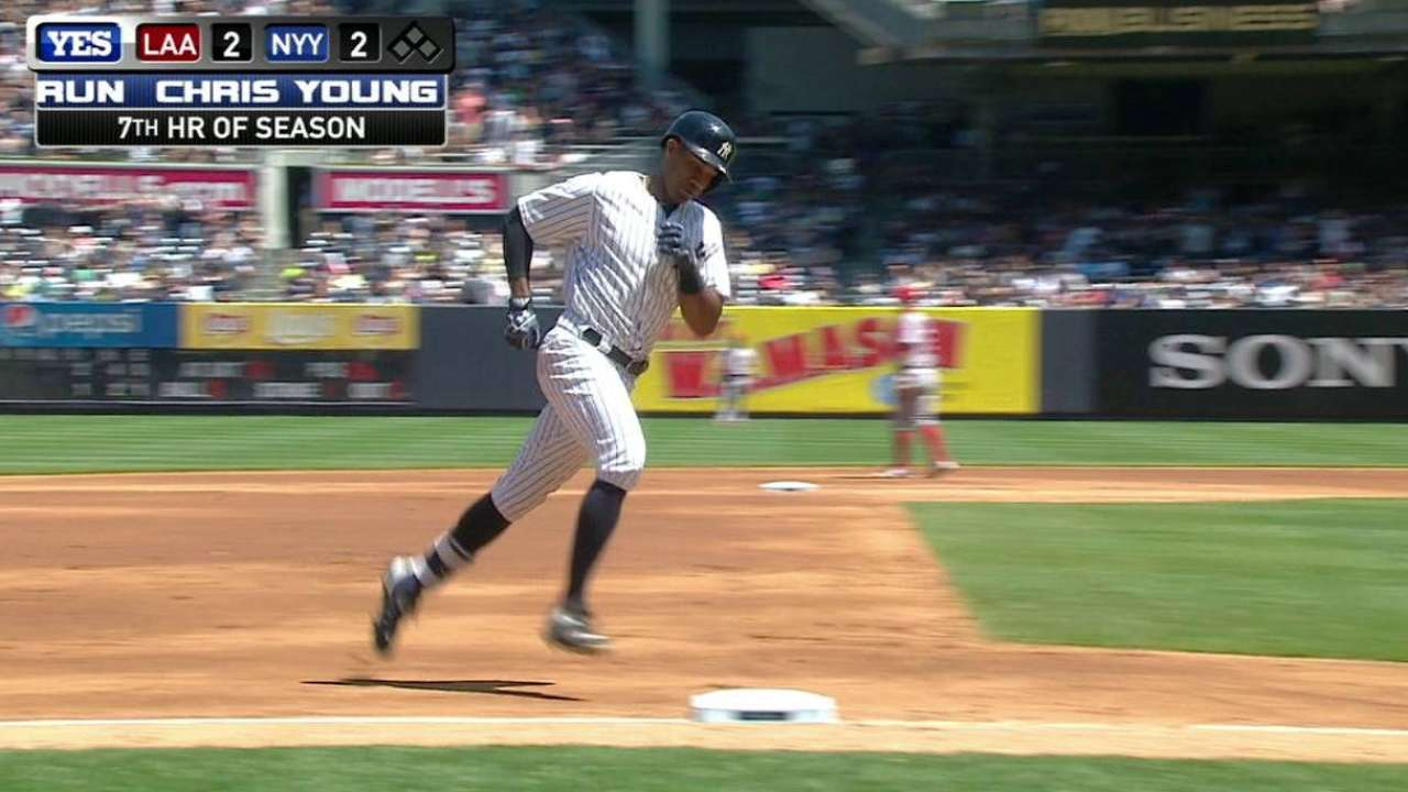 Young's game-tying solo shot