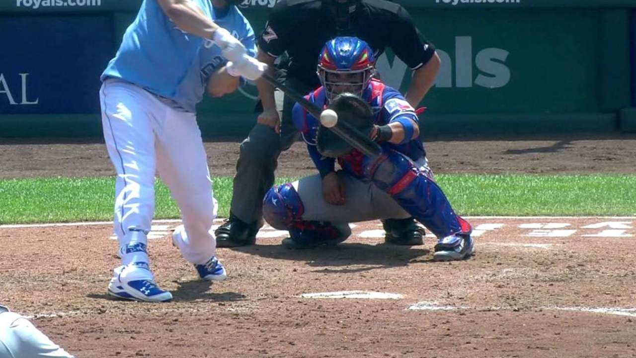 Morales gaps one to left-center