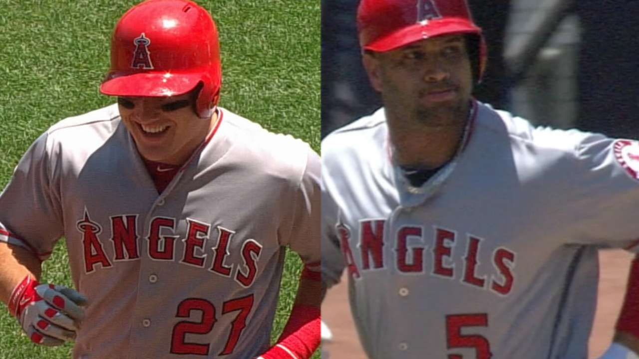Trout, Pujols hold steady in All-Star voting