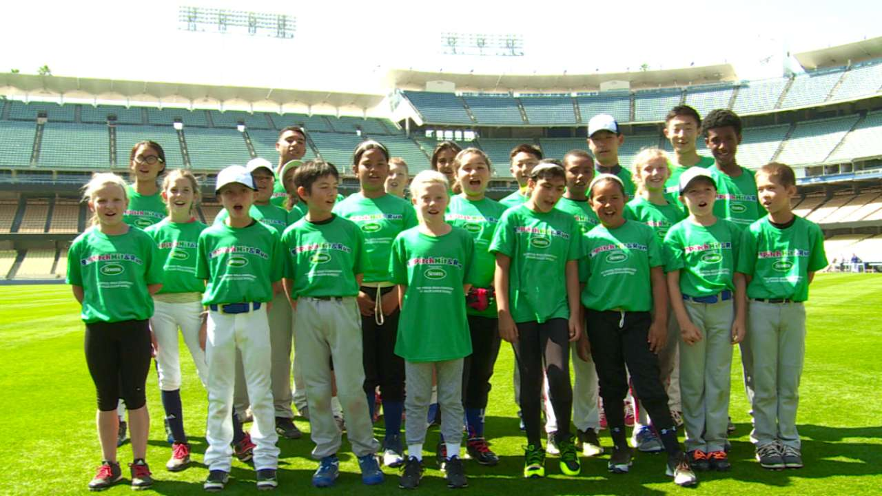 Dodgers host future talents in Pitch, Hit & Run competition