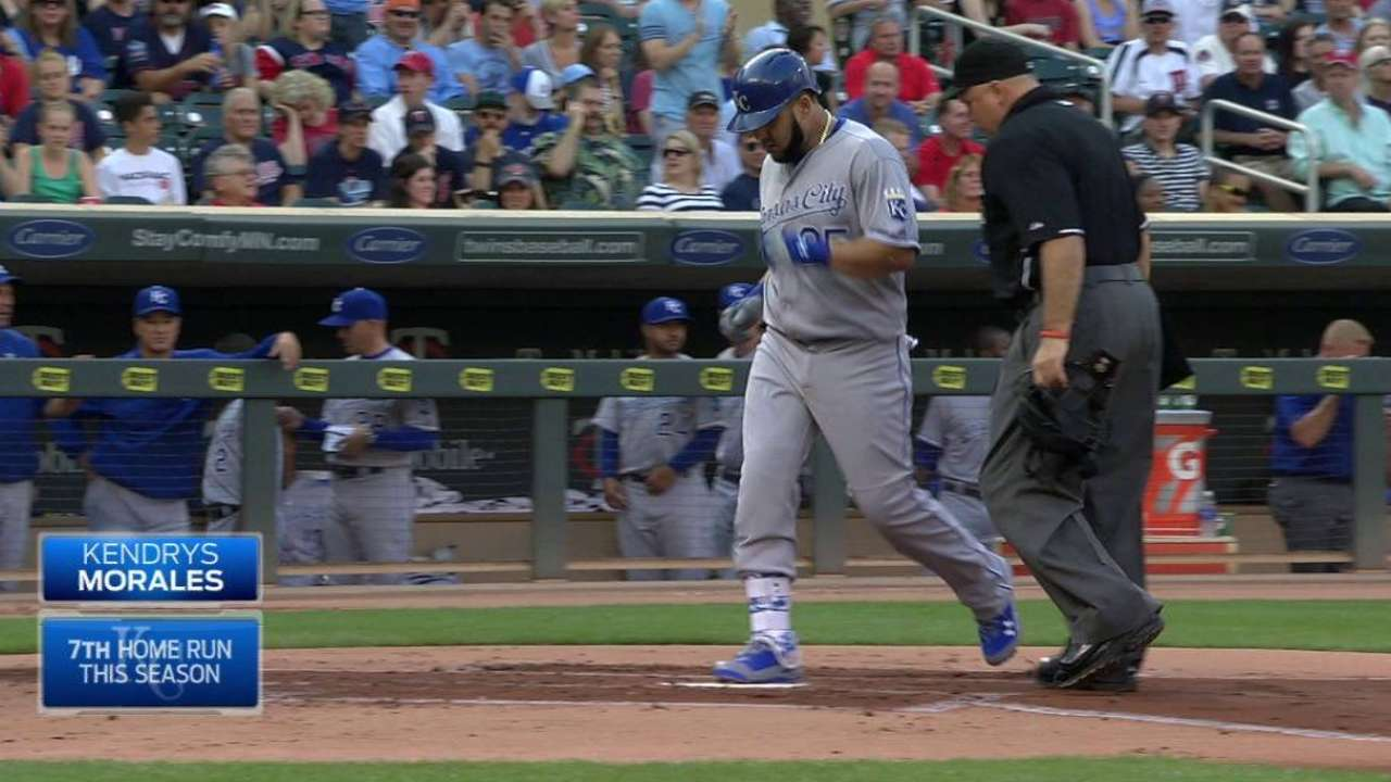 Royals top Twins, move into tie for first
