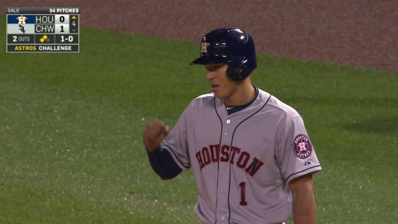 Correa's first ML hit, RBI