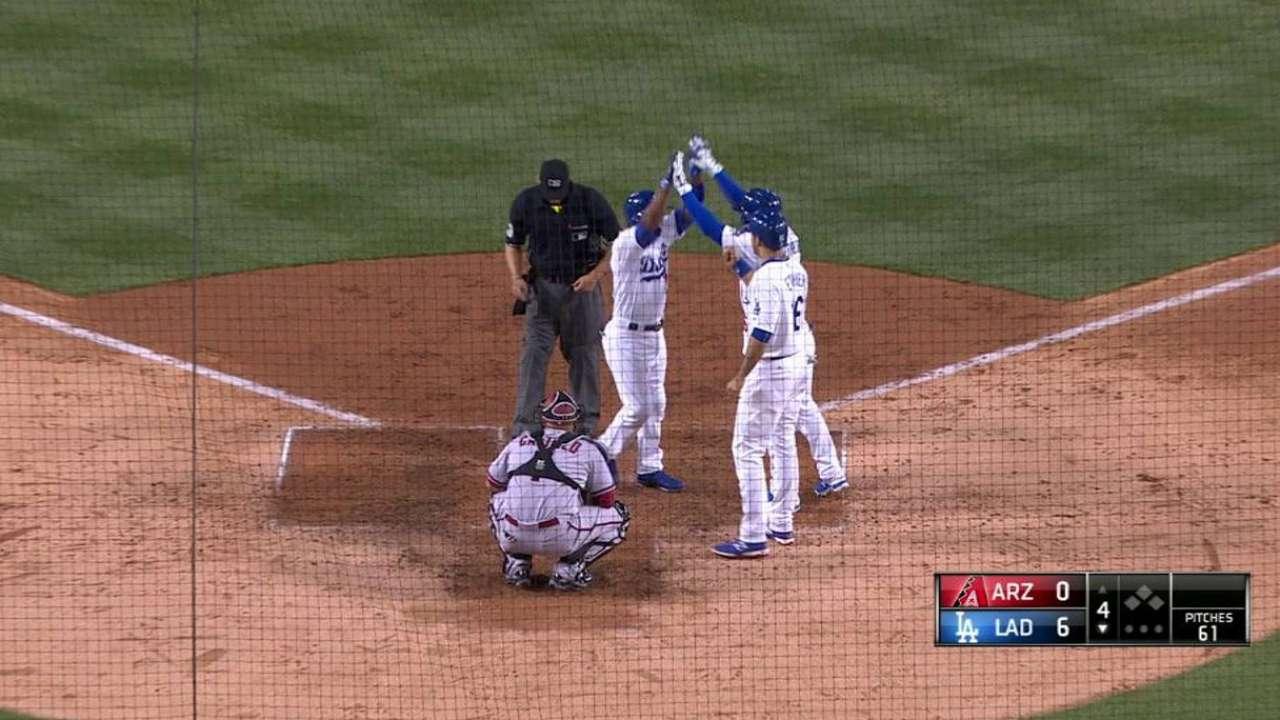 Rollins, Ethier power Dodgers past D-backs