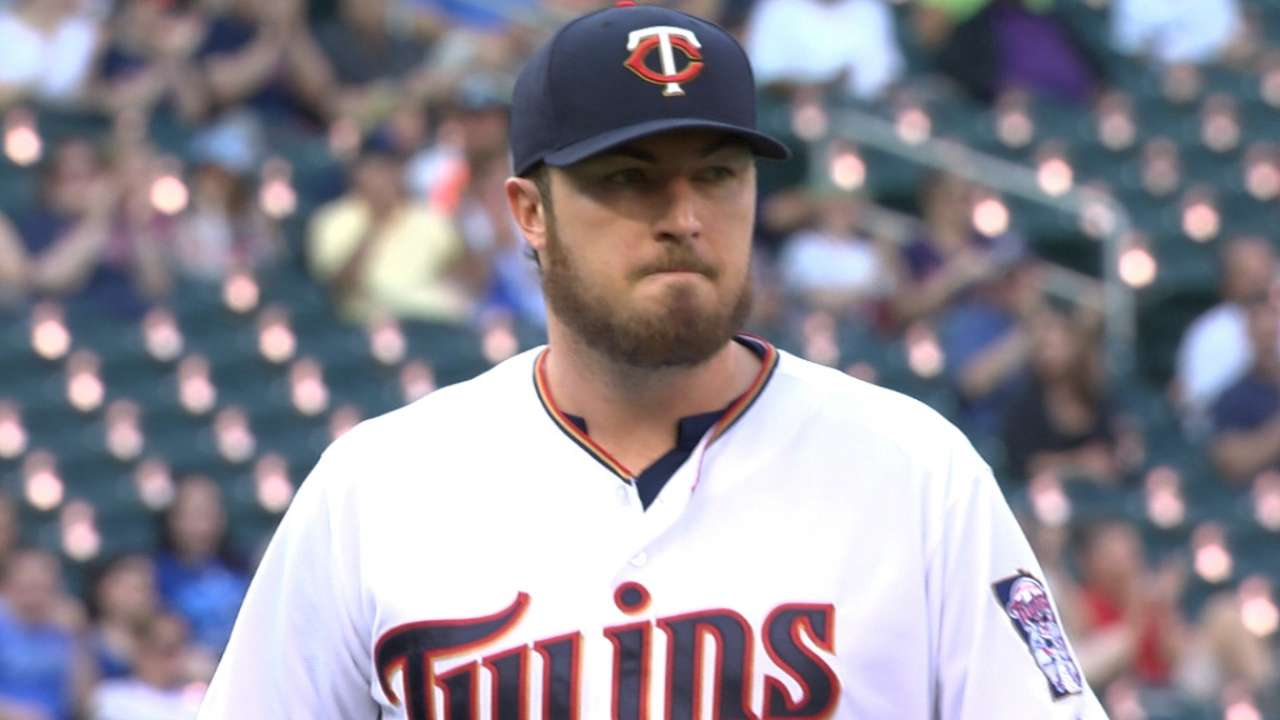 Hughes pitches into the 8th