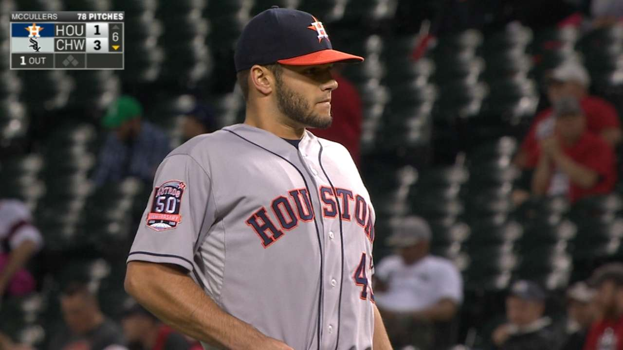 McCullers fans seven over seven