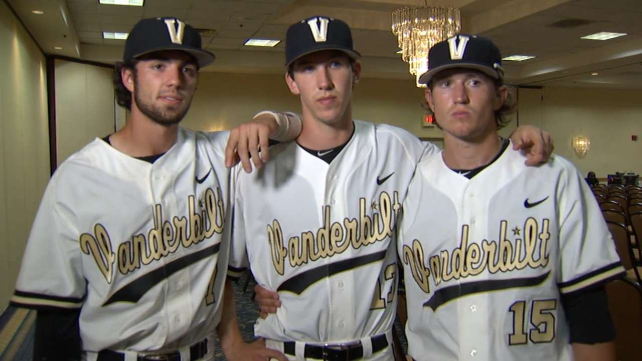 New draftees colliding in College World Series