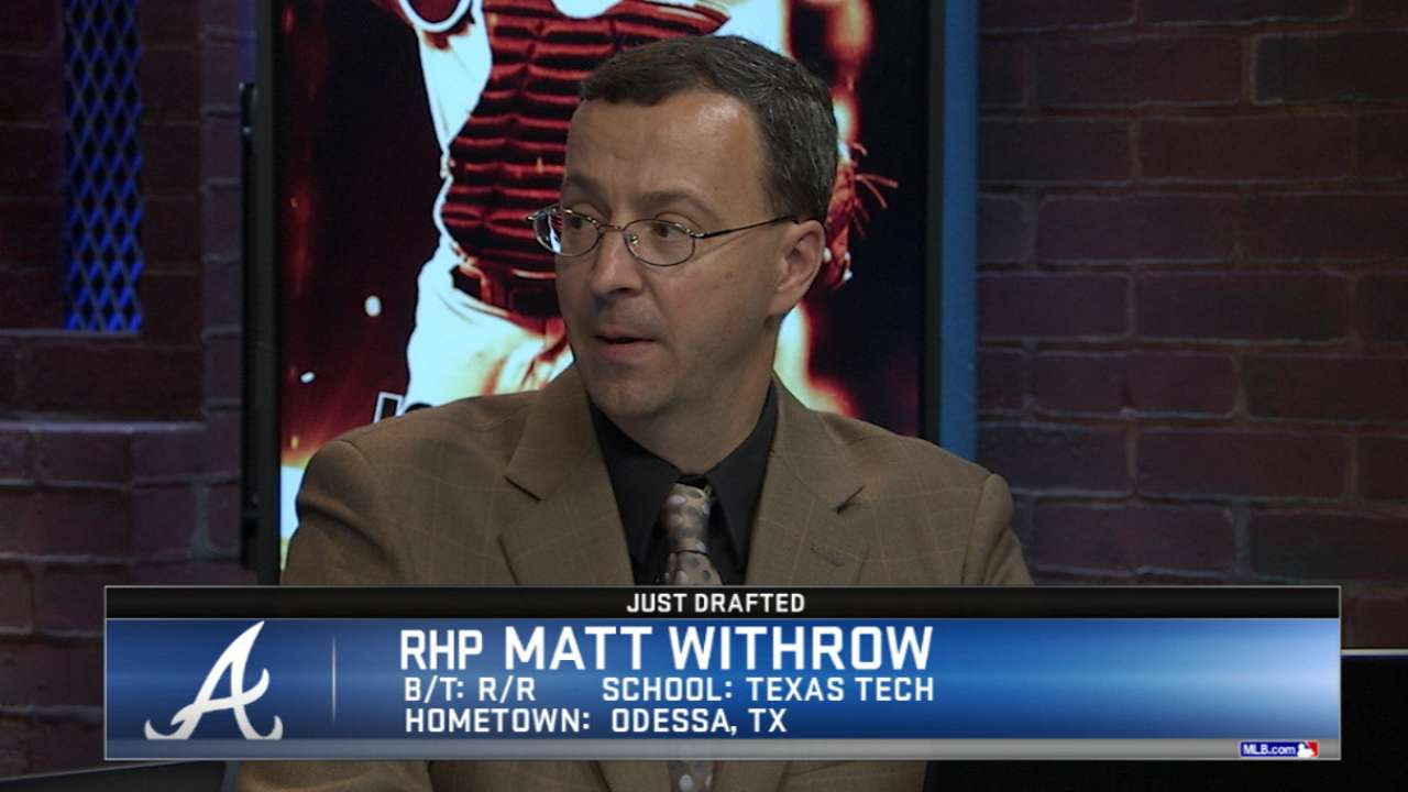 Braves draft RHP Withrow No. 180