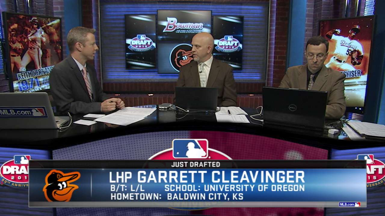 O's open Day 2 of Draft by taking Cleavinger