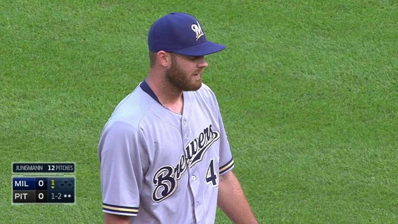 Jungmann's first MLB strikeout