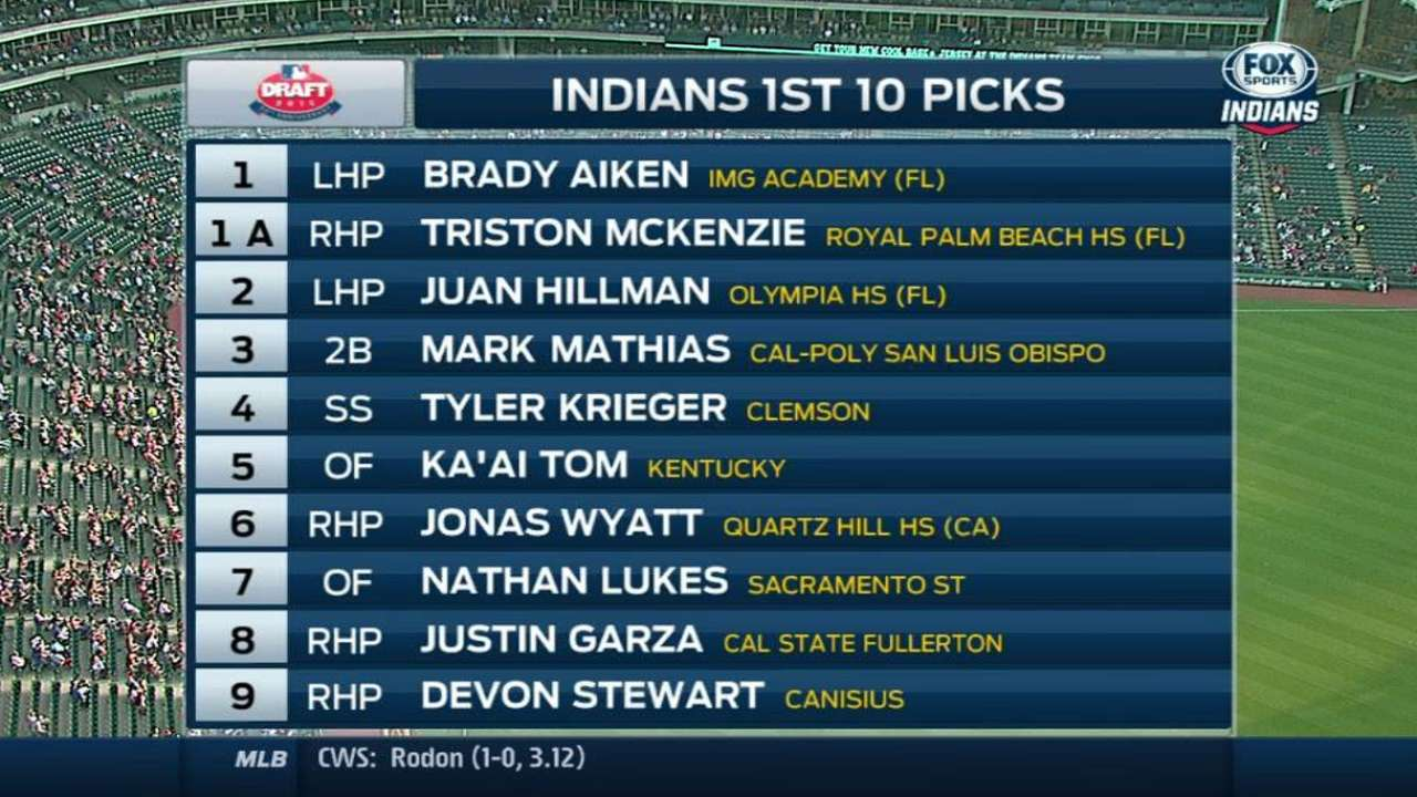 Tribe broadcast on draft picks