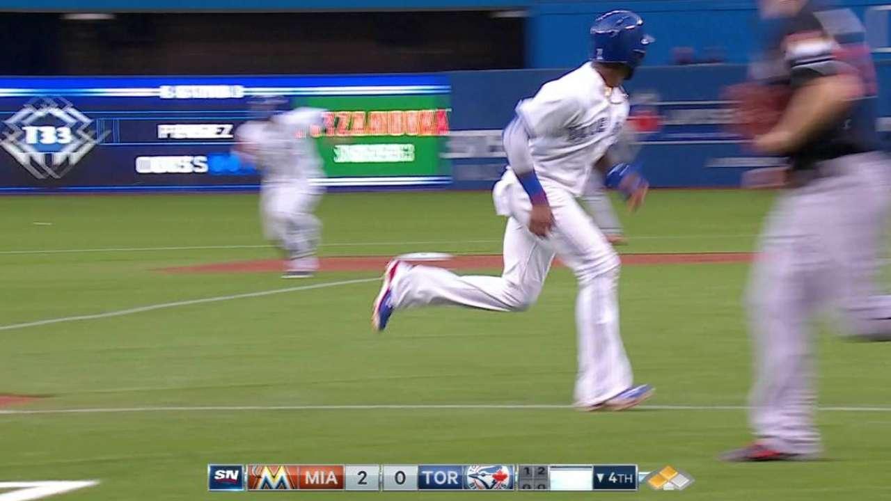 Bautista's sacrifice fly